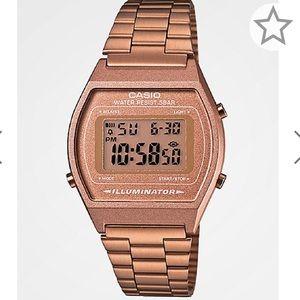 NWB unisex Rose Gold Casio digital watch